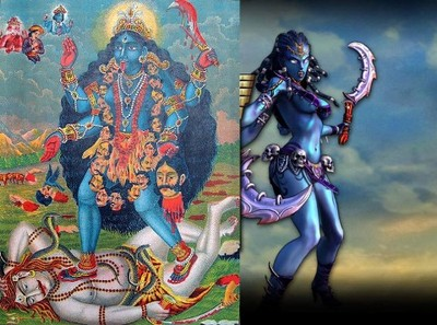Kali depicted in Smite-game