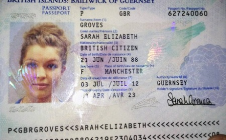Sarah Groves - passport- PTI