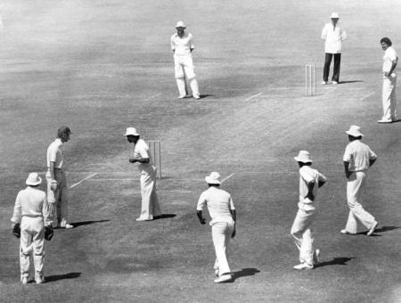 England Bob Taylor recalled by G.R. Viswanath in the Golden Jubilee Test at Bombay in 1980.
