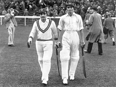 First in Openers Vijay Merchant and Mushtaq Ali at Old Trafford 1936