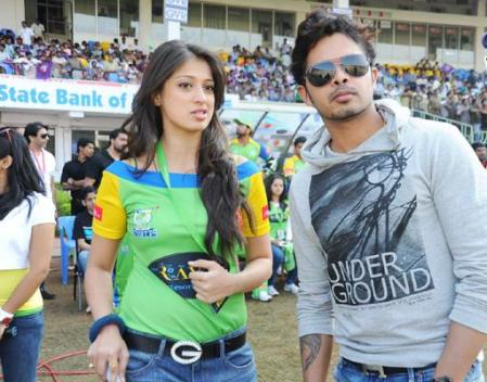 Sreesanth Laksmi roy romance batting