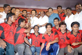 Stalin cricket players with his logo banians