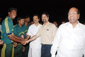 Stalin cricket with Srinanth brahmin