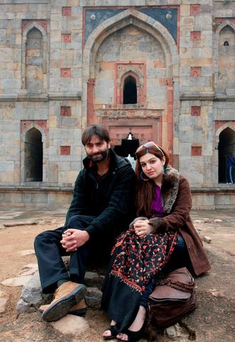 Yasin malik and wife Mushal