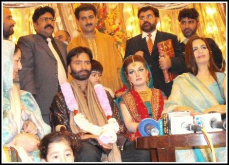 Yasin malik with his wife and others