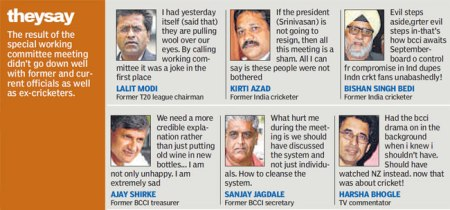 What others say about BCCI working