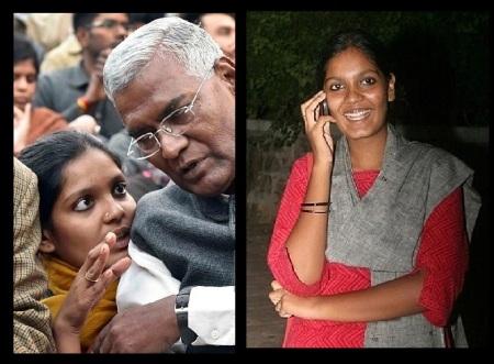 Daniel Raja and his daughter Aparajitha 14-02-2016