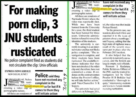 For-making-porn-clip,-3-JNU-Students-rusticated-New-Delhi- June 5, 2011