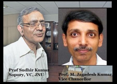 S K Sopory and M Jagadish Kumar JNU VCs