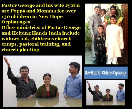 New Hope Orphanage involved in church planting - baptism,