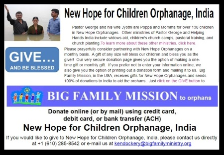 New Hope Orphanage involved in church planting program aided by US mission