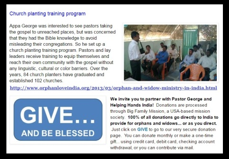 New Hope Orphanage involved in church planting program