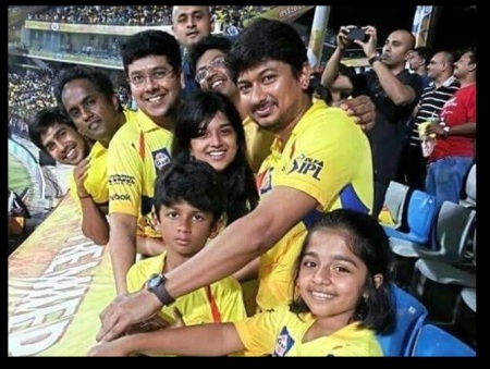 Udhyanidhi family in IPL match